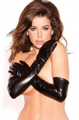 Gift Set Of Sexy Seduction Gloves And Fetish Fantasy Series Furry Love Cuffs - Black by Allure Lingerie