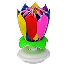 Lotus Flower Festival Birthday Cake Decorative Music Candles