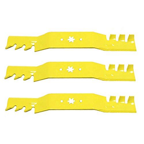 1 Set of 3 OEM Extreme Gator Blades for MTD Cub Cadet Riding & Zero Turn Mowers w/ 50
