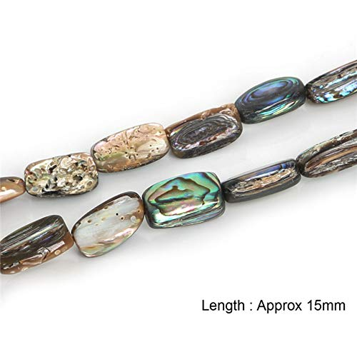 Calvas 12x12mm Approx 26-38pcs Natural Stone Beads Abalone Sea Shell Beads for Jewelry Making Necklace Bracelet DIY Jewelry Findings - (Color: 15mm Approx 26pcs)