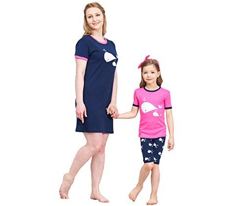 IF Family Women's Sleepwear Cotton Sleep Tee Short Sleeves Nightgown Casual Nights Sleep Dress XXL