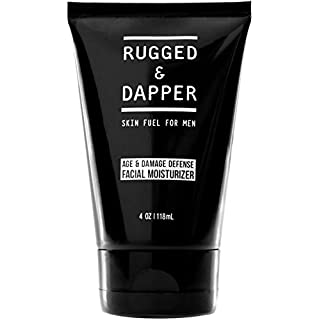 RUGGED & DAPPER Face Moisturizer for Men, Skin Care Lotion with Hyaluronic Acid, 4 Oz