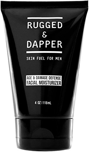 RUGGED & DAPPER Face Moisturizer for Men | 4 Oz. | Daily Anti-Aging Cream + Aftershave Lotion | Unscented | Organic & Natural Ingredients
