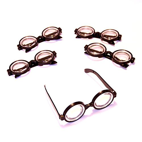Dazzling Toys Plastic Black Frame Nerd Glasses - Pack of 12 - Costume Party - Glasses Bulk Nerd