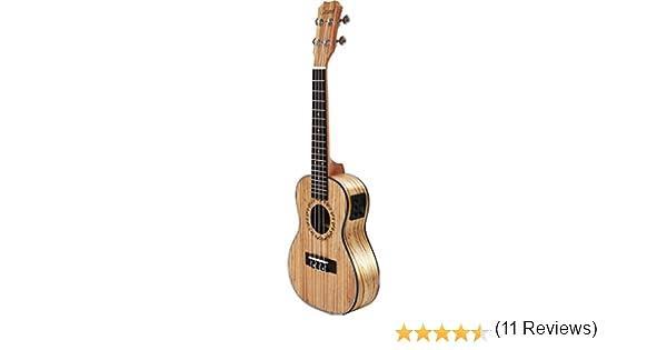 Zurdos – Caramel cc100l de vetas de madera acústica Ukelele ...