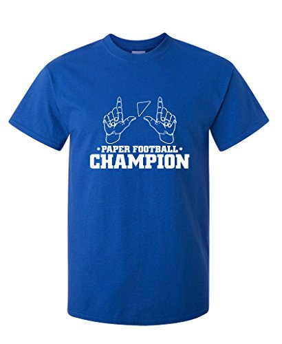 Paper Football Champion School Boring Old School Adult Humor Very Funny T Shirt XL Royal