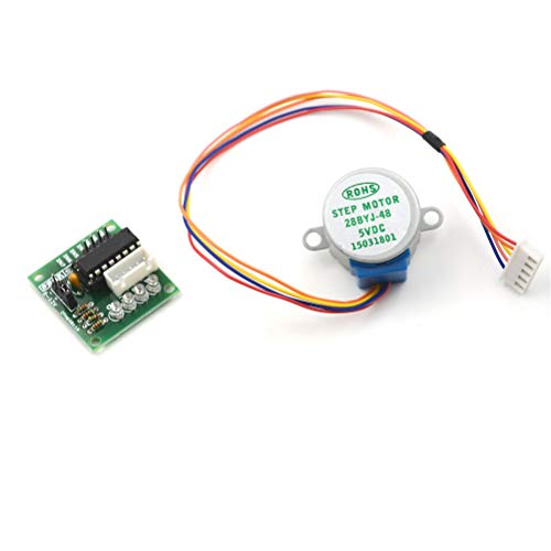 Cacys-Store - 5V Stepper Motor 28BYJ-48 With Drive Test Module Board ULN2003 5 Line 4 Phase Driver Board for Arduino