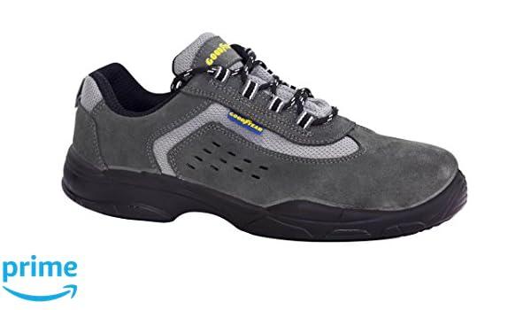 Goodyear G138840C - Calzado (piel serraje, talla 42) color gris: Amazon.es: Bricolaje y herramientas