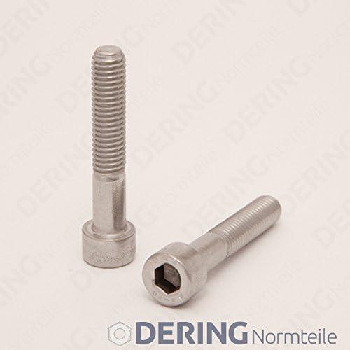 | Zylinderkopf Schrauben DERING Zylinderschrauben M6x16 mit Innensechskant DIN 912 Edelstahl A2 rostfrei 20 St/ück
