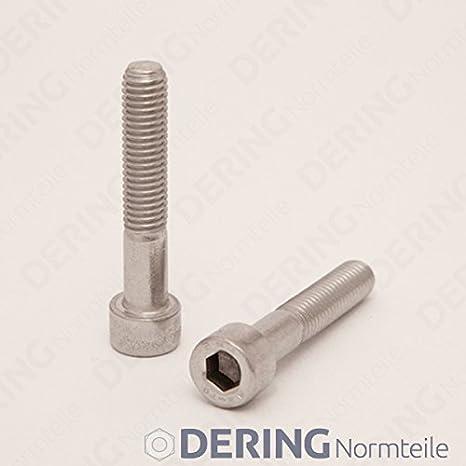 4 St/ück Zylinderkopf Schrauben rostfrei | Zylinderschrauben DERING Zylinderschrauben M1,6x5 mit Innensechskant DIN 912 Edelstahl A2
