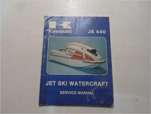 1977 1978 kawasaki jet ski watercraft js 440 service repair manual water  damaged: kawasaki: amazon com: books