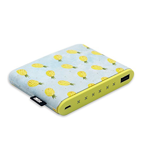 Sethruki Shaking Cute Pineapple Portable Charger Long Fast Charging Slim 10400mAh Power Bank Cartoon Girls External Battery Pack Compatible for All Smartphone Cellphone Tablet