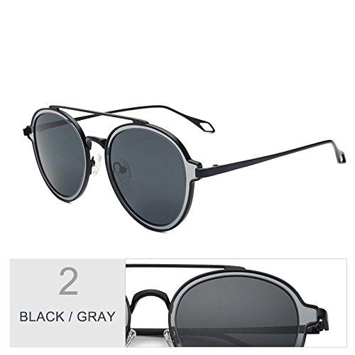 Uv400 Redonda De Caminan Gris De Black Eyewear Puentes Mujeres Negro Lentes Mujer TIANLIANG04 Perfecta Gafas Sol Sol Polarizadas Dobles Gafas De Que Para Gray Para p7TX04wq