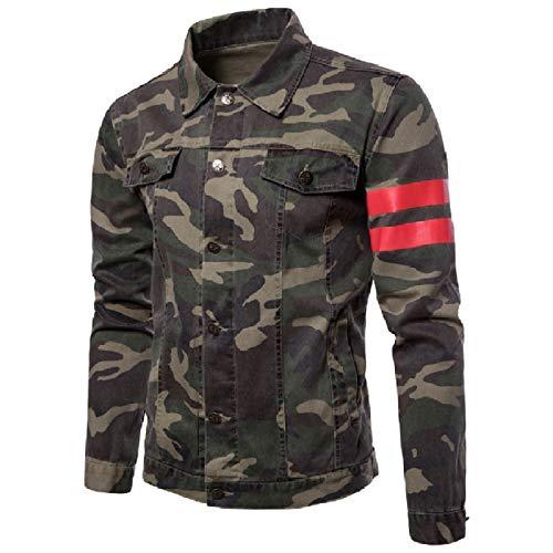 Rkbaoye Leggerezza Camo Twill Verde Outwear Giacca Floreale Dimagrante Militare Maschile PZzRfxqz