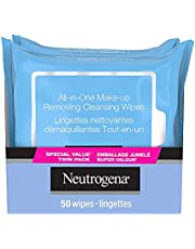 Neutrogena Makeup Remover Cleansing Wipes for Face and Eyes - Remove Waterproof Makeup - 2-pack, 50 Count