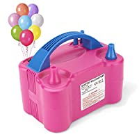 MESHA Electric Balloon Pump Portable Latex Balloon Inflator Manual Automatic Modes, Air Pump Balloons