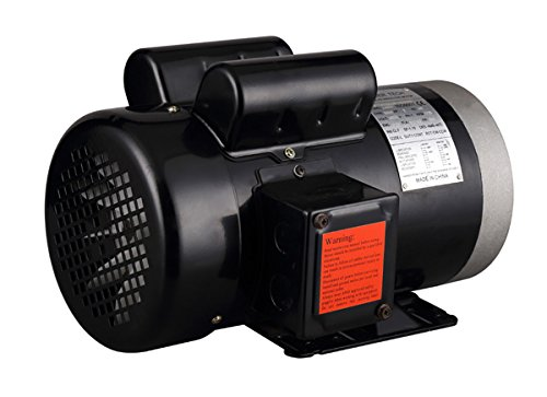 PowerTech 1415C 1.5 hp 5/8'' General Purpose Electric Motor Shaft, Single Phase, 115/230V, 56C Frame, 1750 RPM, TEFC, Manual Overload Protector