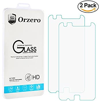 [2 Pack] Orzero moto z play and z play Droid [Update Version], Tempered Glass Screen Protector 0.26mm Clear 2.5D Arc Edges 9 Hardness High Definition Anti Fingerprint [Lifetime Replacement Warranty]