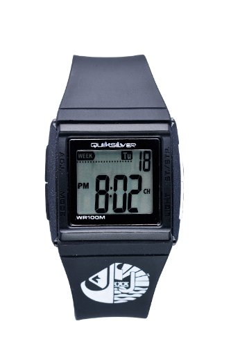 Quiksilver YO44DRBLK - Reloj infantil digital (correa negra de poliuretano)