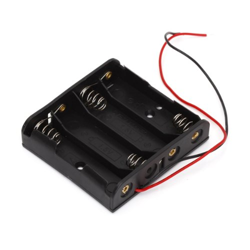 5x Battery Box Holder Case for 4 AA Batteries 6V with Wire