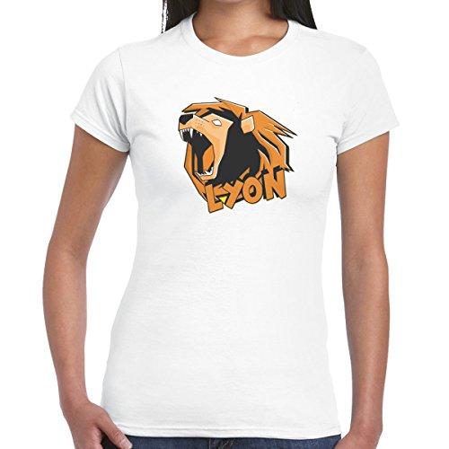 Lyon Donna T Bambina magliettone Shirt Bianco Whengamersfail fw0qFO