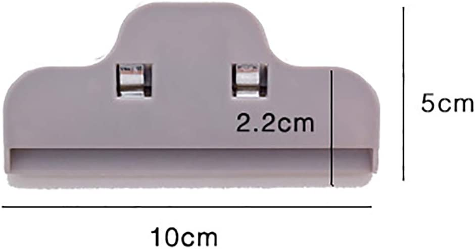 6pcs Bolsa de Alimentos Clip Sellado Clips para Paquetes de Alimentos para el Hogar Cocina Carpeta Clips Clips de Papel Clip de Foto Blanco