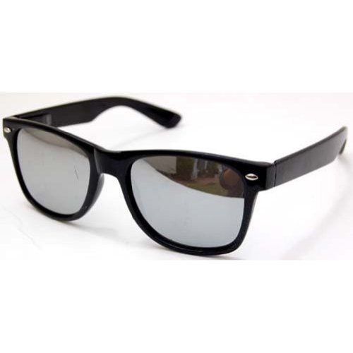 Blues Brothers Trendy Style Sunglasses - Black / Mirror - Brothers Blues Sunglasses
