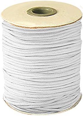80m 2mm Cuerda de hilo de hilo de algodón encerado para DIY Craft ...