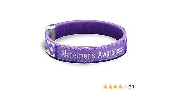 SayitBands 20 Alzheimers Awareness Wristband Silicone Bracelets Purple