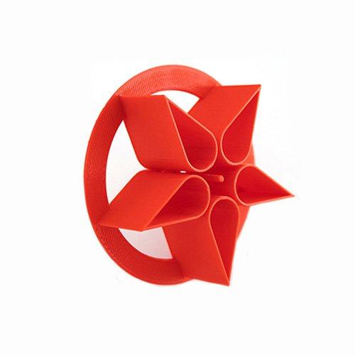 3.5″ Flower Star Pattern Bread Stamp - Concha Cutter - cortador de concha