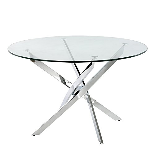 Poly and Bark EM-317-CLR Hawes Glass Dining Table Clear