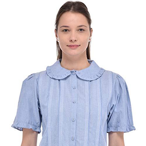 7a74469660c7 Peter Clásica Collar Cambray Pan Blusa De Lane Cotton BOXaO