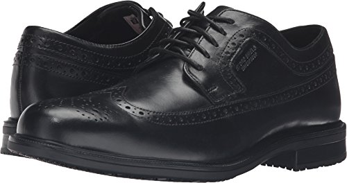 (Rockport Men's Essential Details II Wing Tip Oxford,Black Leather,US 9 M)