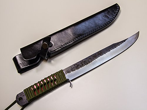 青紙 鋼 狩猟用ナタ 120mm 合皮ケース