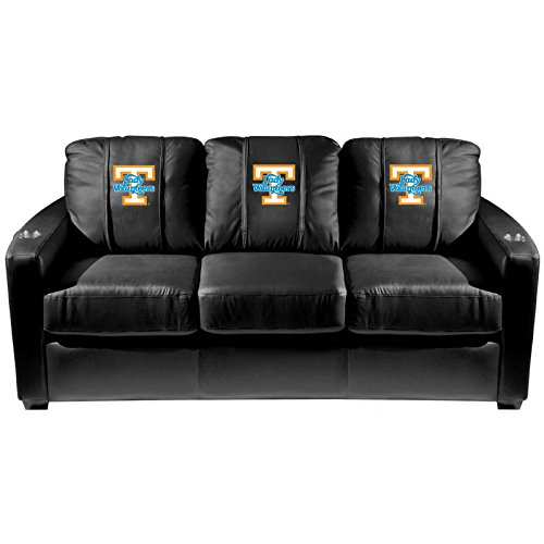 XZipit College Silver Sofa with Tennessee Lady Volunteers Logo Panel, Black