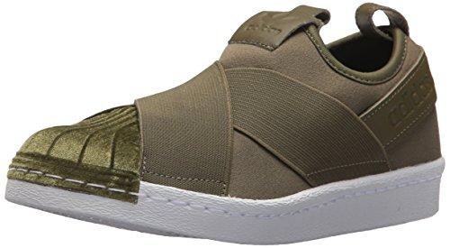 Adidas Originals Women's Superstar Slipon W Sneaker, Olive Cargo/Olive Cargo/White, 10 M US