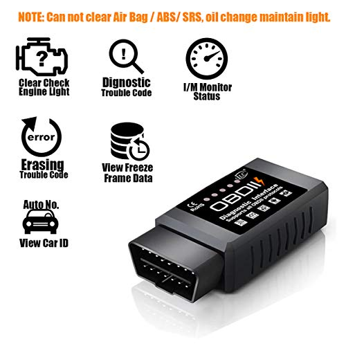 iLC OBD2 OBD Wireless Car Code Reader Scan Tool - Connects
