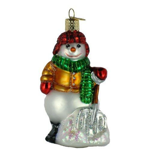 (Old World Christmas Shoveling Snowman Ornament)