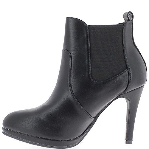 Mujeres negras botas de tacón de 9,5 cm de extremo