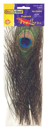 "Chenille Kraft CK-4515 Peacock Feathers, 4"" Wide, 10.3"" Length, 1.7"" Height (12 Count)"