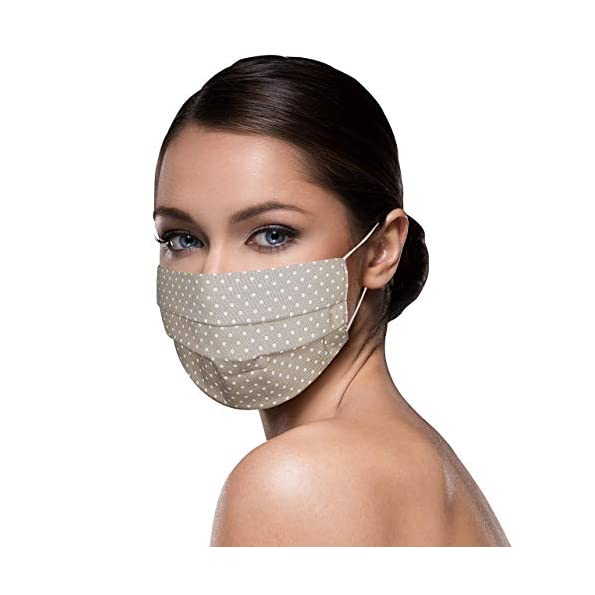 Unisex-Stoffmasken-Mundschutz-Maske-Stoff-100-Baumwolle-Mund-Nasen-Schutzmaske-mit-Motiv-Mund-und-Nasenschutz-Maske-waschbar-BEIGE