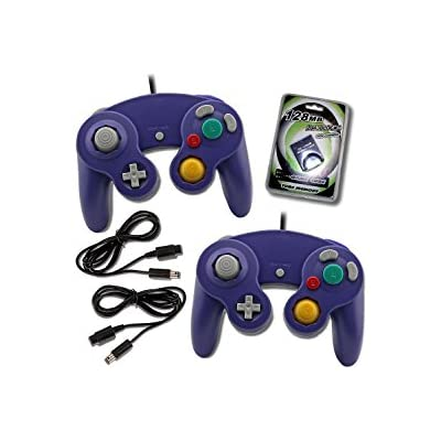 2-purple-game-cube-controllers-with