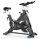 L NOW Indoor Cycling Bike Stationary-Belt Drive Exercise Bike 44LBS Flywheel