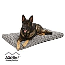 Plush Dog Bed 40648-SGB| Ombré Swirl Dog Bed & Cat Bed | Gray 46L x 29W x 3H - Inches for XL Dog Breeds