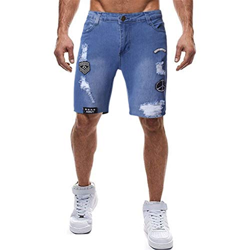 Men's Denim Shorts, Fashion Casual Bermuda Skate Board Harem Jean Pant Plus Size Trousers with Pockets ()
