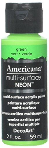 DecoArt Americana Multi-Surface Neon Paint, 2-Ounce, Green