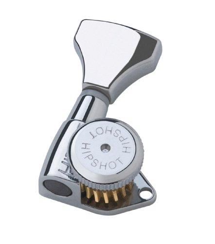 Hipshot Grip-Lock 6 inline Staggered Locking Tuners - Chrome