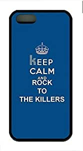 Keep Calm And Rock To The Killers Cover Case Skin for iPhone 5 5S Soft TPU Black Kimberly Kurzendoerfer