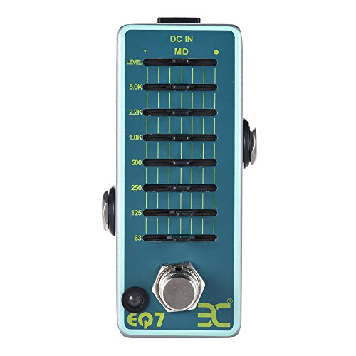 ammoon ENO EX EQ7 Guitar Equalizer Effect Pedal 7-Band EQ Full Metal Shell True Bypass - Graphic Equalizer Effects Pedal