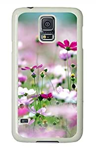 Galsang Flower 3 White Hard Case Cover Skin For Samsung Galaxy S5 I9600